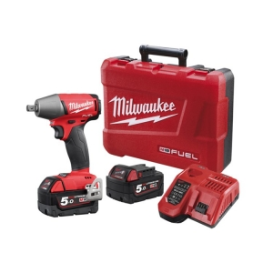 Milwaukee M18 FUEL 1/2 Square Drive Impact Wrench (Detent Pin) - 5.0Ah Kit