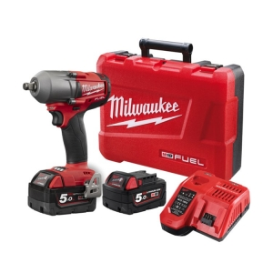 Milwaukee M18 FUEL Mid Torque 1/2 Inch Impact Wrench Friction Ring- 5.0Ah Kit