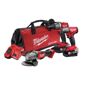 Milwaukee M18 FUEL 3 Piece Power Pack (FPD2 FIWF12 CAG125XPD)- 5Ah Kit