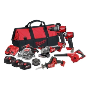 Milwaukee M18 FUEL 6 Piece Power Pack (FPD2,FID2,CAG125XPD,FHZ,CCS55,BBL, ONET-1