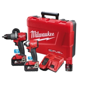 Milwaukee M18 ONE-KEY Power Pack 2A2 (M18ONEPD2-0, M18ONEID2-0) Bonus M12B2