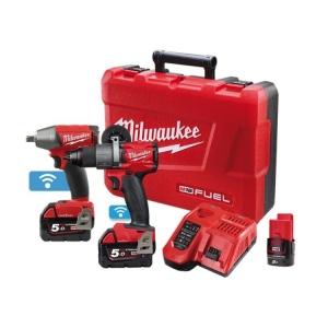 Milwaukee M18 ONE-KEY Power Pack 2B2 (M18ONEPD2-0, M18ONEIWF12-0) Bonus M12B2