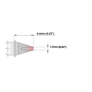 Chisel Tip 30 Deg 1.0mm (0.04in)
