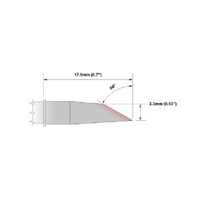 Thermaltronics Hoof 60 Degree 3.3mm (0.13 inch)