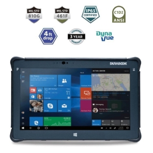 Durabook R11 Rugged Tablet IP65 Mil-Spec 810G and 461F ANSI C1D2 4ft Drop