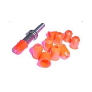 1/8 Orange Snap-Soc R/S Cap Pk10