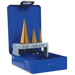 3 pce Step Drill Set
