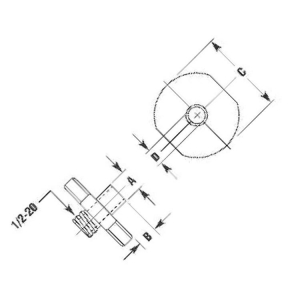 Template Guide for SRT10S25N Router Pilot 3/8 x 3/8 inch Flange 3/4 inch