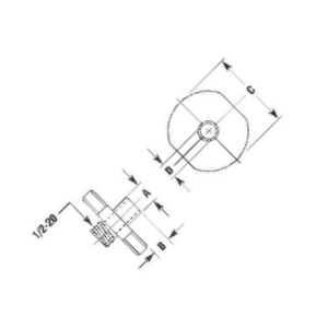 Template Guide for SRT10S25N Router Pilot 1/2 x 3/8 inch Flange 1-1/2 inch