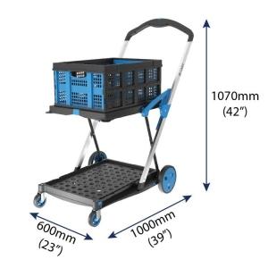 X-Cart Folding Trolley with Folding Basket