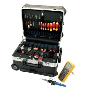 Master Electro-Mechanical Toolkit In Turtle Case