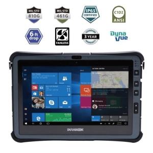 Durabook U11I Rugged Tablet IP65 8GB Mil-Spec 810G and 461G ANSI C1D2 6ft Drop