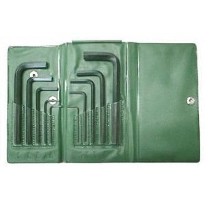 Hex Key Set 1/16 - 3/8 Inch Wallet