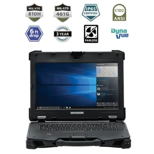 Durabook Z14I Rugged Laptop IP65 CORE I5 16GB RAM Mil-Spec 810H and 461G ANSI C1